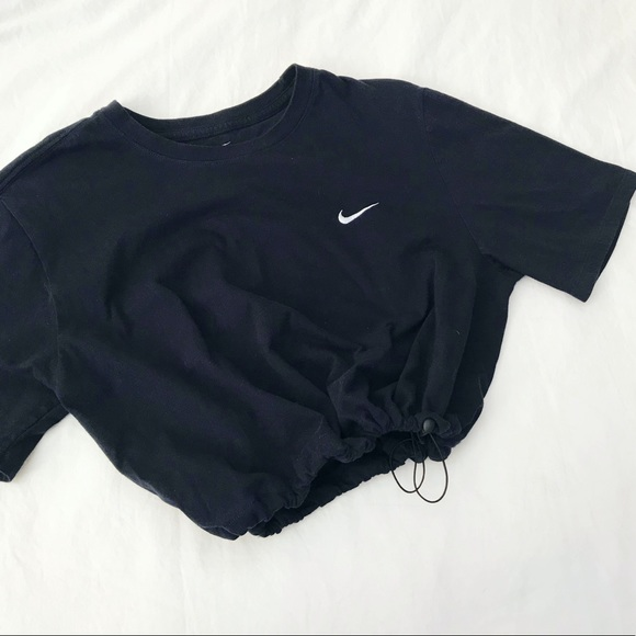 Charcoal Nike drawstring crop hoodie Vintage well kept